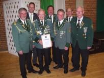 Foto mit den Ehrengästen und dem Gründungsmitglied
