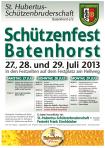 Schützenfest Plakat 2013 groß