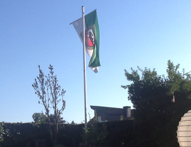 Fahne bei Familie Brinkrolf