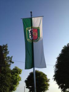 Fahne bei Familie A. Hinse / Gröne