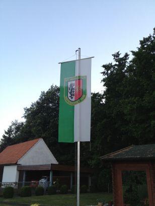 Fahne bei Familie Schnückel / Hünemeier