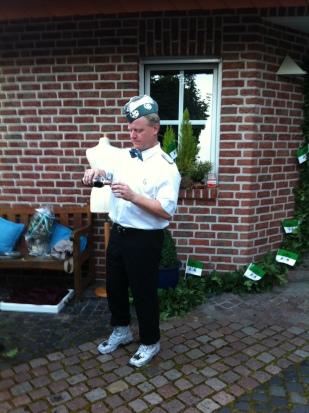 Silberjungschützenkönig Werner Pülke in voller Uniform